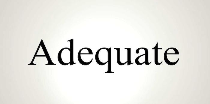 adequate living